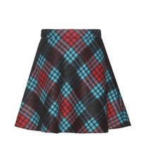Miu Miu Virgin Wool And Mohair Blend Miniskirt Blue
