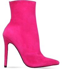 Carvela Good Suede Ankle Boots Pink