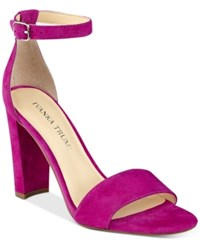 Ivanka Trump Emalyn Block Heel Sandals Women's Shoes Dark Pink