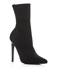 Aqua Women's Cento Stretch High Heel Sock Booties 100 Exclusive Black