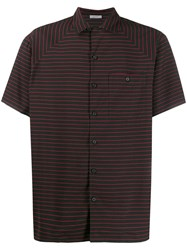 Lanvin Striped Shortsleeved Shirt Black