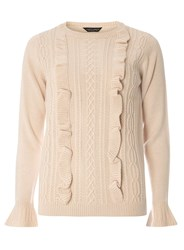 Dorothy Perkins Blush Ruffle Cable Jumper Pink