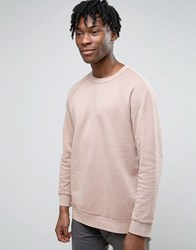 Weekday Grip Sweatshirt Reverse Loopback Pink
