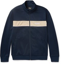 Stussy Striped Jersey Track Jacket Navy