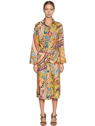 Etro Printed Cotton Poplin Shirt Dress Multicolor