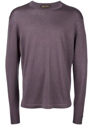 Loro Piana Crew Neck Jumper Pink Purple