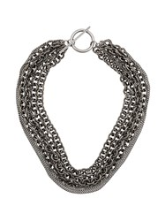 Ann Demeulemeester Chunky Chain Necklace Silver