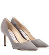 Jimmy Choo Exclusive To Mytheresa.Com Romy 85 Suede Pumps Grey