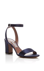 Tabitha Simmons Leticia Satin Heels Navy