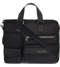 Diesel Gear Zipped Briefcase Black