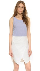 Ruken Jenna Tank Dress Seersucker White