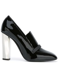 Giuseppe Zanotti Design Varnished Square Toe Pumps Black