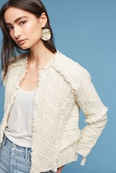 Anthropologie Violette Lace Embroidered Jacket Ivory