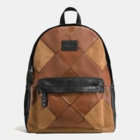 Coach Campus Backpack In Mixed Canyon Quilt Leather Qb Dark Saddle Multi
