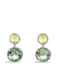 David Yurman Chatelaine Double Drop Earrings With Prasiolite And Lemon Citrine