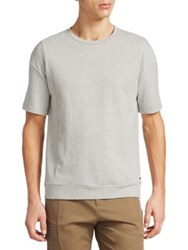 Madison Supply Muted Chevron Cotton Tee Heather Grey