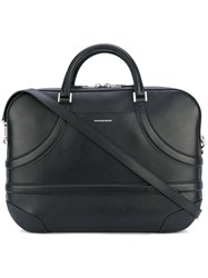 Alexander Mcqueen Harness Briefcase Men Calf Leather One Size Black