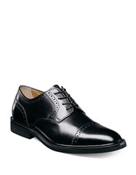 Florsheim Perforated Leather Oxford Shoes Black