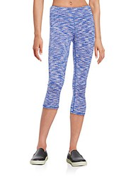 Andrew Marc New York Space Dyed Cropped Leggings Royal Blue