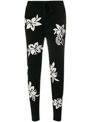 Chinti And Parker Hibiscus Knot Stitch Track Pants Black