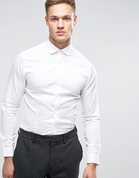 Jack And Jones Premium Stretch Shirt In Slim Fit White