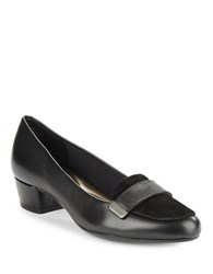 Easy Spirit Ulana Black Leather And Suede Loafers