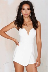 Nasty Gal Female Persuasion Asymmetrical Romper