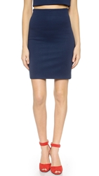 Ad Mini Ponte Reversible Pencil Skirt Navy Black