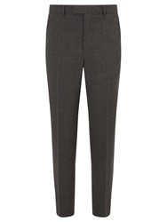 Chester Barrie By Three Ply Worsted Wool Tailored Suit Trousers Grey