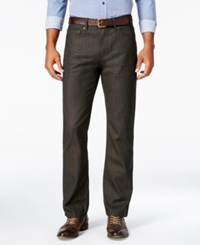 Alfani Men's Big And Tall Slim Straight Fit Jeans Only At Macy's Brown Coated
