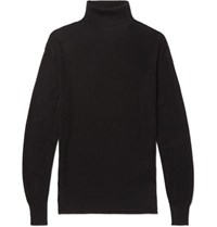 Tom Ford Ribbed Cashmere And Silk Blend Rollneck Sweater Black