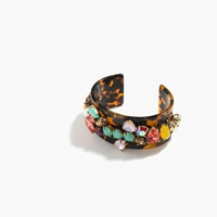 J.Crew Crystal Foliage Cuff Bracelet Multi Color