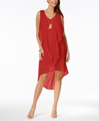 Thalia Sodi Ruffled High Low Shift Dress Created For Macy's High Voltage