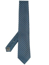 Canali Geometric Patterned Tie Brown