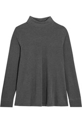 The Great Turtle Neck Stretch Jersey Sweater Dark Gray