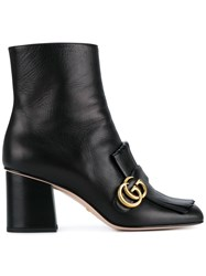 Gucci Fringed Ankle Boots Black