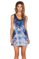 Gypsy 05 Bamboo V Neck Wrap Back Mini Dress Blue