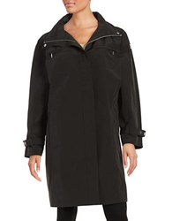 Calvin Klein Plus Packable Rain Coat Black