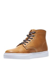 Wolverine Leather High Top Sneakers Tan