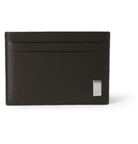 Alfred Dunhill Side Car Textured Leather Cardholder Brown