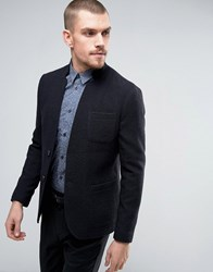 Selected Homme Skinny Knitted Blazer Navy