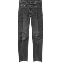 Vetements Levi's Slim Fit Panelled Denim Jeans Black