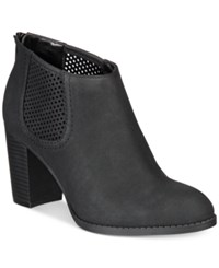 Styleandco. Style Co. Lanaa Perforated Booties Only At Macy's Women's Shoes Black