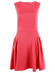 Closet Fit And Flare Dress Coral