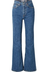Re Done High Rise Wide Leg Jeans Mid Denim