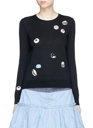 Marc Jacobs Sequin Candy Wool Sweater Black