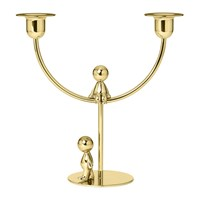 Ghidini 1961 Omini Brass Double Candle Holder The Thinker Walkman