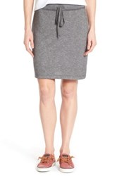 Caslon French Terry Skirt Gray