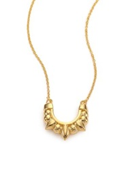 Pamela Love Mini Tribal Spike Pendant Necklace Gold