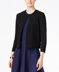 Armani Exchange Open Front Blazer A Macy's Exclusive Solid Black